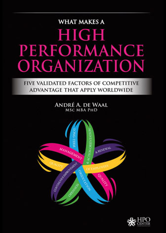 Cover boek What Makes a High Performance Organization